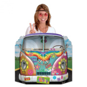 Beistle Hippie Bus Photo Property, 0.9m by 60cm , Multicolor