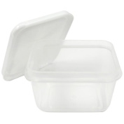 Nicole Home Collection 10 Count Mini Storage Containers Rectangle, 70ml, White