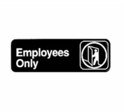 Winco SGN-305 Sign, 7.6cm by 23cm , Employee Only