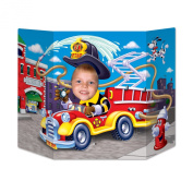 Beistle Fire Truck Photo Property, 0.9m by 60cm , Multicolor