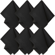 Microfiber Cleaning Cloth (6 Pack) for Lens, Eyeglasses, Glasses, Screen, iPad, iPhone, Tablet, Cell Phone - Lint-FREE Non-Abrasive Cleaner Cloths to Clean Camera Lenses, Tablets, Touch LCD TV Screens