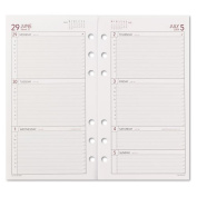 Day Runner Products - Day Runner - Express Weekly Planning Pages Refill, Hourly Appointments Mon-Fri, 3-3/4 x 6-3/4 - Sold As 1 Each - Handle your weekly planning needs in a slim refill. - Intuitive and easy to use. - Two-page spread, Monday-Sunday for ..