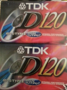 TDK D120 High Output IECI / Type I Normal Position Audio Cassettes