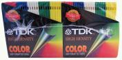 TDK High Density Colour IBM Formatted Discs, 50 Disc