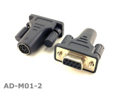 CablesOnline PS/2 MiniDin6 Female to DB9 Serial Female Mouse Adapter (2-PACK)