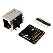 RJ45 8-pin Connector (8P8C) and Breakout Board Kit for Ethernet DMX-512 RS-485 RS-422 RS-232