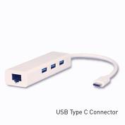 Mediasonic USB Type C Hub with 3 x USB 3.0 Type A Port and Gigabit Ethernet Port
