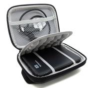 co2CREA(TM) Black Hard EVA Shockproof Carrying Case Pouch Bag for Western Digital WD My Passport Studio Ultra Slim Essential Elements SE/Seagate Backup Plus Slim/Toshiba Stor.E Basics / Canvio / for for for for for for for for for Samsung