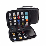 GUANHE USB Drive Organiser Electronics Accessories Case Shuttle with Cable Tie / Hard Drive Bag