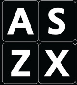 ENGLISH US LARGE LETTERS KEYBOARD STICKERS NON TRANSPARENT BLACK BACKGROUND (Upper Case)Online-Welcome®