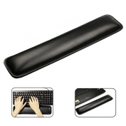 Topoint® Ergonomic Laptop Palm Support Rest Gel Wrist Pad for for Computer PC Laptop Keyboards Keyboard Pad Cushion (370mm*82mm))-Black