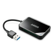 [Upgraded Version] Anker USB 3.0 4-Slot Card Reader with Built-in 0.1m Cable for SDXC, SDHC, SD, CF, High-Speed CF (UDMA), MS, Micro SDXC, Micro SDHC, Micro SD Cards [Support UHS-I Cards]