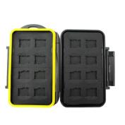 JJC MC-MSD16 Rugged Water-Resistant Memory Card Case
