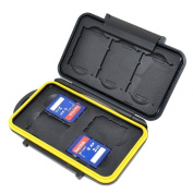 JJC MC-XQDSD7 Water-Resistant Storage Memory Case Protector For 3XQD + 4SD Cards