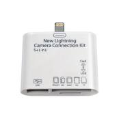 5 in 1 card reader for ipad Mini ipad4/air card reader /OTG 5 in 1
