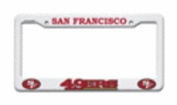 San Francisco 49ers Official NFL 30cm x 15cm Plastic Licence Plate Frame by Rico Industries