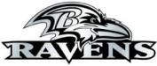 Caseys Distributing 8162010322 Baltimore Ravens Silver Auto Emblem