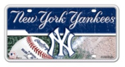 New York Yankees Official MLB 30cm x 15cm Metal Licence Plate NY by Rico Industries