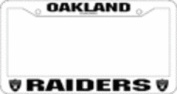 Oakland Raiders Official NFL 30cm x 15cm Plastic Licence Plate Frame by Rico Industries