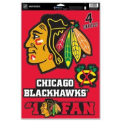 Chicago Blackhawks Official NHL 28cm x 43cm Static Cling Window Car Decal by Wincraft