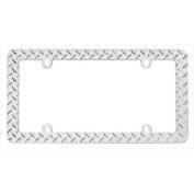 Cruiser Accessories 30830 Diamond Plate Licence Plate Frame, Chrome