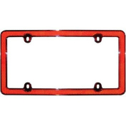 Cruiser Accessories 30436 Red Reflector II Licence Plate Frame, Chrome With Red