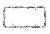 Cruiser Accessories 22230 Barbed Wire II Licence Plate Frame, Chrome