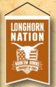 Texas Longhorns Official NCAA 36cm X 60cm Team Nation Banner Flag by Winning Streak