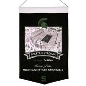 Michigan State Spartans Official NCAA 38cm x 60cm Stadium Wool Banner Flag by Winning Streak