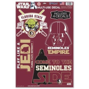 Florida State Seminoles Official NCAA 28cm x 43cm Star Wars Darth Vader Car Window Cling Decal by Wincraft