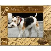 Giftworks Plus DBA0176 Wire Fox Terrier Alder Wood Frame 10cm x 15cm