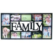 NEXXT PH00120-7FF Family 10 Opening Black Collage Frame 37cm x 70cm .