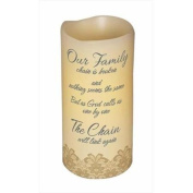 Carson Home Accents 107266 Candle Flameless Family Chain With Timer Vanilla6 inch