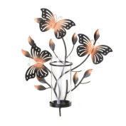 Home Locomotion Fluttering Butterfly Wall Candleholder
