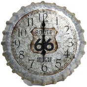 Taylor 36cm Route 66 Bottle Cap Metal Clock