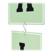 Deflect-o Metal S Hooks - 2.5cm Size - Metal - Silver