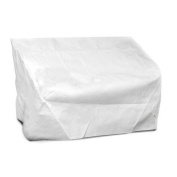 KoverRoos 22350 DuPont Tyvek 2-Seat-Loveseat Cover White - 54 W x 38 D x 31 H in.