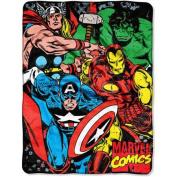 Northwest NOR-1MAR059000005RET 120cm x 150cm . Marvel Avengers We Fight Micro Raschel Blanket
