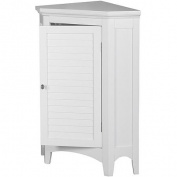 Elegant Home Elegant Home Fashions Slone Corner Floor Cabinet with 1 Shutter Door