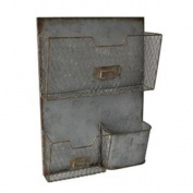 Cheungs FP-3897 Wall Hanging Metal Storage Pockets