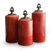 Jay Import 1182140-RB American Atelier Canister Set - Red Set of 3