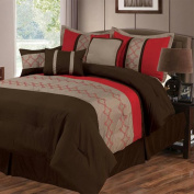 Lavish Home Molly 7 Piece Embroidered Comforter Set - Queen