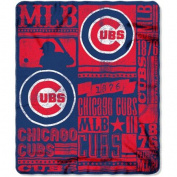 Northwest NOR-1MLB031020006RET 130cm x 150cm . Chicago Cubs MLB Light Weight Fleece Blanket Strength Series