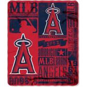 Northwest NOR-1MLB031020005RET 130cm x 150cm . Los Angeles Angels MLB Light Weight Fleece Blanket Strength Series