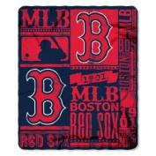 Northwest NOR-1MLB031020004RET 130cm x 150cm . Boston Red Sox MLB Light Weight Fleece Blanket Strength Series