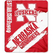 Northwest NOR-1COL031020006RET 130cm x 150cm . Nebraska Cornhuskers NCAA Light Weight Fleace Blanket Paint Series