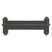 Benzara 60943 Lovely Wood Metal Towel Rack