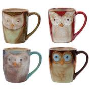 Gibson Home Night Owls 4-Piece Mug Set