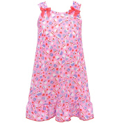 I.C. Collections Little Girls Pink Cupcake Heart Print Bow Nightgown 4T