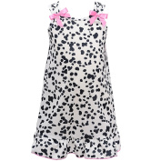 I.C. Collections Little Girls Black White Spot Pink Bow Nightgown 3T